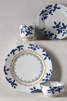 Northern Blooms Dinner Plate - anthropologie.com
