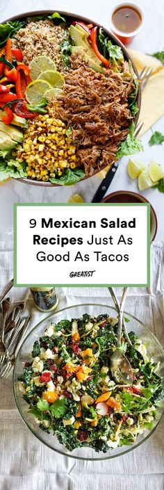 Ya gotta switch it up sometimes. #greatist https://greatist.com/eat/mexican-salad-recipes