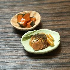『おばんざいセット』●かぼちゃの煮物・さばの煮付け●ミニチュアフード 2個セット