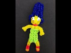 Rainbow Loom MARGE SIMPSON. Designed and loomed by Looming WithCheryl. Click photo for YouTube tutorial. 05/28/14.