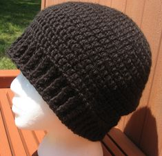 crochet chemo hats for men   And this is the first of the men's hats!