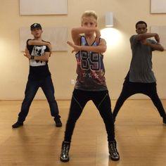 Rehearsal for @AAKidsDay w/ @sam72129 and @julian5678 choreo by @foxieangela @vladofootwear #AAKD #POP