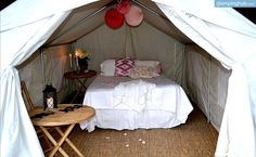 Glamping Safari Tents with Lake Front View in Upstate New York