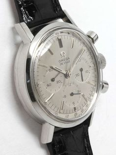 Omega Stainless Steel Seamaster Deville Chronograph Wristwatch circa 1965 | From a unique collection of vintage wrist watches at https://www.1stdibs.com/jewelry/watches/wrist-watches/
