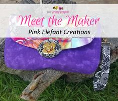 Meet the Maker: Pink Elefant Creations - Andrie Designs Paper and PDF bag patterns Handmade bags Bag Patterns, Handmade Bags, Bag Making, Pdf, Meet, Shoulder Bag, Paper, Design, Handmade Handbags