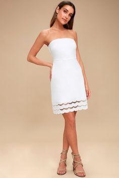 cd82fc00c24 Sunny Sweetheart White Lace Strapless Dress 2 Klänningar För Tonåringar,  Formella Klänningar, Avslappnade Klänningar