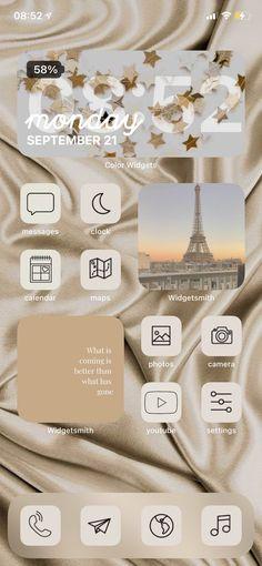 Iphone Widgets, App Iphone, Iphone Wallpaper Ios, Ios Wallpapers, Iphone Icon, Iphone Home Screen Layout, Iphone App Layout, Iphone App Design, Iphone Novo