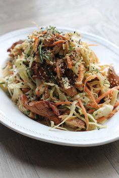 Chicken Cashew Cabbage Salad