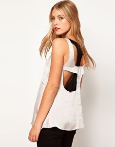 Enlarge ASOS Vest With Double Layer And Cutout Back