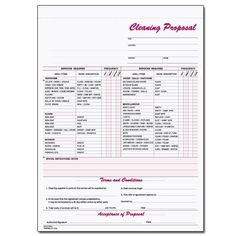 Cwicc Cleaning Services Work Order  Janitorial Forms