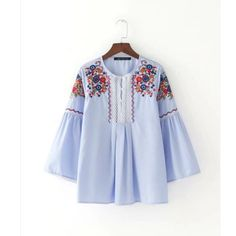 Special price 2017 women vintage fashion flower Embroidery Striped Shirt blouses lace patchwork tops retro roupas femininas shirts LS1205 just only $11.84 with free shipping worldwide  #womanblousesshirts Plese click on picture to see our special price for you