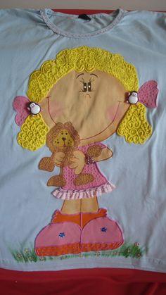 Babylook com boneca com ursinho