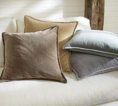 Washed Velvet Pillow Cover | Pottery Barn