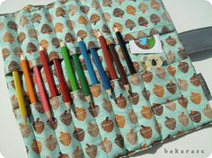 Smart idea - if you fold the roll in half, the pens will stand up, I imagine. If you can get it to stay up. hrm...