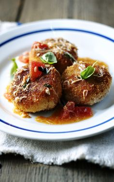 Put those shells to good use - home made crab oil takes these crab cakes to a new level.