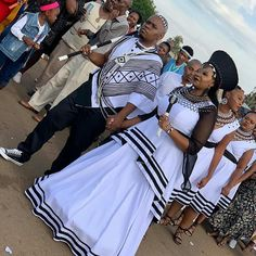 African Wear Dresses, Latest African Fashion Dresses, South African Traditional Dresses, Traditional Outfits, African Wedding Attire, African Weddings, Xhosa Attire, Modern African Clothing, Wedding Fabric
