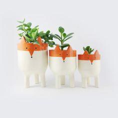 Ceramic planters by Minky Moo