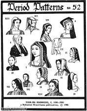 17 Historic Tudor era Headdresses & Hoods Sewing Pattern | Period Patterns 52