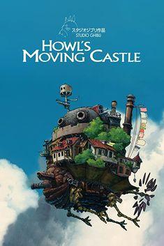 Studio Ghibli Poster, Studio Ghibli Art, Studio Ghibli Movies, Howl's Moving Castle Movie, Howls Moving Castle Wallpaper, Anime Cover Photo, Images Wallpaper, Wallpapers, Anime Films