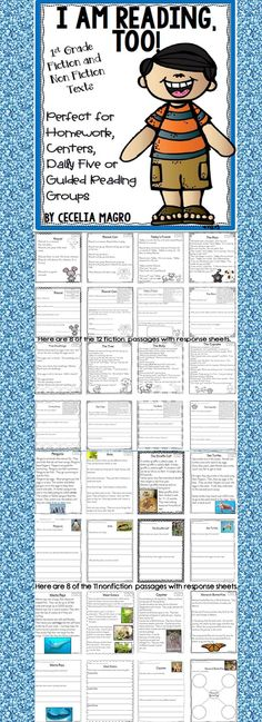 23 original first grade leveled reading passages and close reading activities perfectly aligned to Common Core Literature AND Informational reading standards! This pack could be used in a variety of ways - class-wide reading, homework, assessment, fluency work, reading comprehension practice, guided reading groups, or intervention.