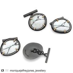 #Repost @moniquejeffreyjones_jewellery ・・・ Moorland Cufflinks, part of my graduate collection. (Oxidised sterling silver, gold and enamel). Shall be shown at New Designers next week! #comingtoND #moniquejeffreyjonesjewellery #graduatecollection2017 #newdesigners