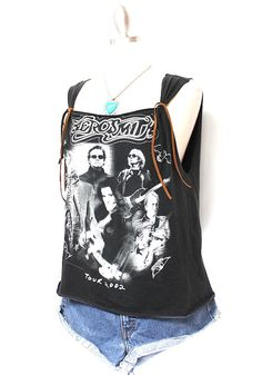 Aerosmith Tank Top Made From Tour 2002 tshirt by OneLovePasadena, $49.99