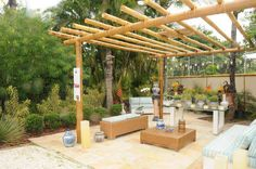 Though historical with thought, the actual pergola is suffering from somewhat of a modern renaissance Diy Pergola, Rustic Pergola, Curved Pergola, Pergola Attached To House, Pergola Swing, Diy Deck, Outdoor Pergola, Cheap Pergola, Wooden Pergola