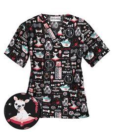 Pampered Pooch Black V-Neck Scrub Top Vet Tech Scrubs, Medical Scrubs, Veterinarian Scrubs, Black Scrubs, Things To Do When Bored, Pediatric Nursing, Scrub Tops, Dog Grooming, V Neck