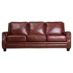 Bring Stately Style To Your Living Room Or Den With This Handsome Italian  Leather Sofa,