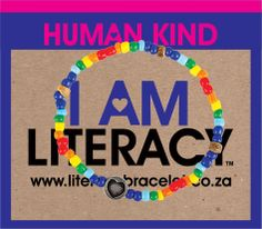 """Literacy bracelet for 'Boks for Books"""" Springbok rugby team's CSI. They aim to build and furnish libraries in rural schools and communities. R40 each www.beadcoalition.com"""