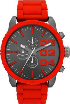 Diesel Mens Chronograph Red Watch