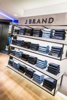 Our portfolio of retail design and production projects. Boutique Interior, Clothing Store Interior, Clothing Store Displays, Clothing Store Design, Showroom Interior Design, Boutique Decor, Denim Display, Visual Merchandising, Jeans Store