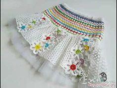 Baby Girl Crochet, Crochet Baby Clothes, Love Crochet, Irish Crochet, Crochet For Kids, Crochet Lace, Crochet Skirt Pattern, Crochet Skirts, Crochet Patterns