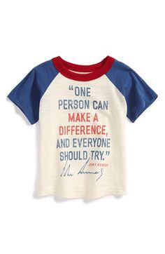 Peek 'JFK' Colorblock Raglan T-Shirt (Toddler Boys, Little Boys & Big Boys) available at #Nordstrom