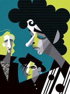 Ilustración de Soda Stereo, fuerza Cerati.