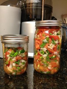 Homemade Salsa with Garlic Scapes