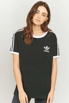 5a54ed1f5a3525 adidas Originals 3-Stripes Black T-shirt