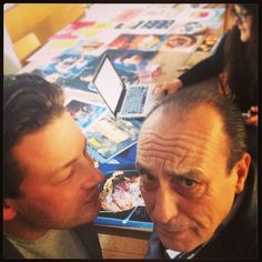 """@Jamie Wise Oliver's photo: """"Me & Don @gennarocontaldo !! He drops by while I write my recipes to debate the perfect !!! Bless that man"""""""