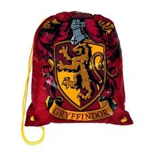 Wizarding World of Harry Potter : Gryffindor Drawstring Nylon Backpack - Harry Potter Merchandise / Project Fellowship