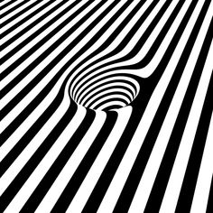 Design Trends – Op-Art – Everything you Need to Know. op art illusion d'optique trou noir et blanc GIF Illusion Kunst, Optical Illusion Gif, Cool Optical Illusions, Illusion Art, Beste Gif, Art Fractal, Motif Art Deco, 3d Drawings, Flower Drawings