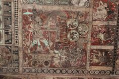 This photograph of the ceiling paintings from the Vijayanagara empire period in the mantapa of Virupaksha temple was taken by me at Hampi, a UNESCO world heritage site in Bellary district, Karnataka state, India.