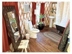 The leading tiny house marketplace. Search thousands of tiny houses for sale and rent and connect with tiny house professionals. Yurt Living, Tiny Living, Home And Living, Yurt Interior, Interior Design, Luxury Yurt, Luxury Bathroom Vanities, Yurt Home, Best Bathroom Flooring