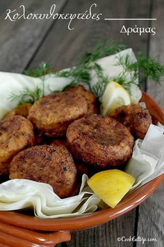 Zucchini Balls ⋆ Cook Eat Up! Pureed Food Recipes, Greek Recipes, Veggie Recipes, Vegetarian Recipes, Cooking Recipes, Savoury Dishes, Tasty Dishes, Cyprus Food, Homemade Tzatziki