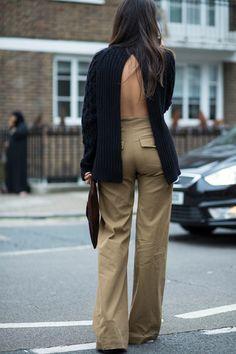 On the street at London Fashion Week. Photo: Chiara Marina Grioni/Fashionista.