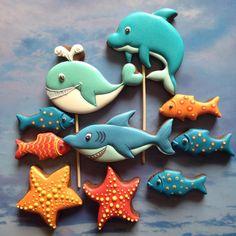 Морские обитатели. #пряникичелябинск #пряникиимбирные #пряничныетопперы