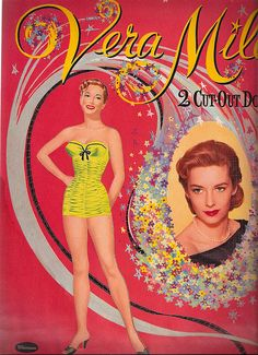 Move Star Paper Dolls...spent hours playing with these!  Vera Miles Back Cover by Pennelainer, via Flickr