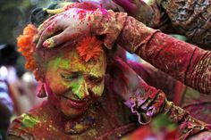Holi, the Hindu festival of colors, brightens up India