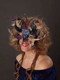 Pixie Masquerade Mask by Judith Rauchfuss of leopardsleap.com
