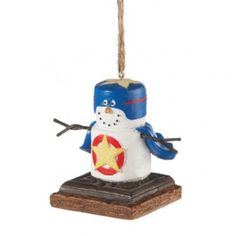 Add a little fun to your Christmas Tree this holiday season by adding this S'more Superhero Ornament to your collection! https://www.christmas2remember.com/s-mores-superhero-ornament.html