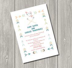 Vintage Summer Camp- Printable Wedding Invitation. $20.00, via Etsy.
